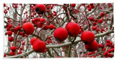 Winter Berryscape Hand Towel