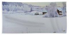 Winter Blanket Bath Towel by Martin Howard