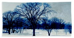 Bath Towel featuring the photograph Winter Blues by Shawna Rowe