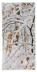 Winter Branches Bath Towel