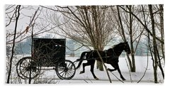 Winter Buggy Hand Towel