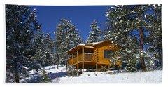 Winter Cabin Hand Towel