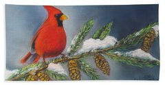 Winter Cardinal 2 Hand Towel