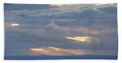 Winter Clouds Bath Towel