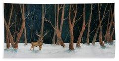 Winter Deer Hand Towel