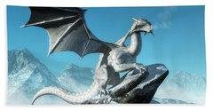 Winter Dragon Hand Towel
