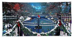 Bath Towel featuring the digital art Winter Garden by Michael Rucker