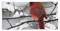 Winter In Red Hand Towel