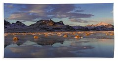 Winter In The Salt Flats Hand Towel