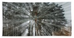 Winter Light In A Forest Hand Towel