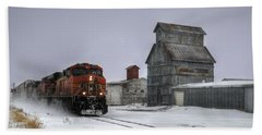Winter Mixed Freight Through Castle Rock Bath Towel