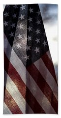 Winter Morning Patriotism Bath Towel