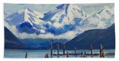 Winter Mountains Alaska Hand Towel