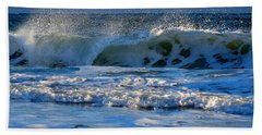 Winter Ocean At Nauset Light Beach Bath Towel