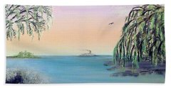 Winter On Lake Ponchartrain Hand Towel by Alys Caviness-Gober