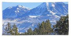 Winter On Lamborn And Gunnison Mtns Colorado Bath Towel