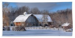 Hand Towel featuring the photograph Winter On The Farm 14586 by Guy Whiteley