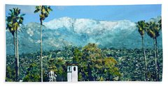 Winter Paradise Santa Barbara Hand Towel