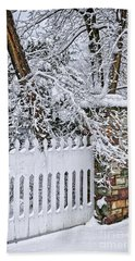 Winter Park Fence Bath Towel