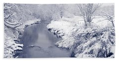 Bath Towel featuring the photograph Winter River by Liz Leyden