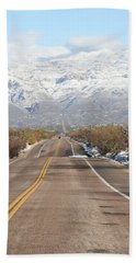Winter Road Bath Towel