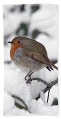 Winter Robin Bath Towel
