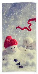 Winter Snowman Hand Towel