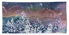 Bath Towel featuring the painting Winter Solstice  by Kathy Bassett