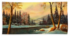 Winter Splendor Hand Towel