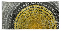 Winter Sun Original Painting Bath Towel