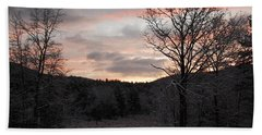 Bath Towel featuring the photograph Winter Sunrise by Mim White