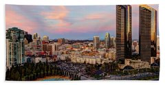 Bath Towel featuring the photograph Winter Sunset San Diego by Heidi Smith