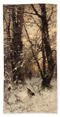 Winter Twilight Bath Towel