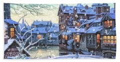 Winter Twilight Hand Towel