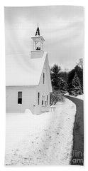 Winter Vermont Church Hand Towel