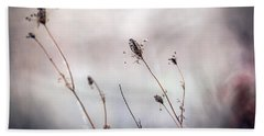 Bath Towel featuring the photograph Winter Wild Flowers by Sennie Pierson