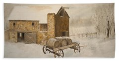 Bath Towel featuring the painting Winter Wine by Alan Lakin