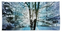 Hand Towel featuring the photograph Winter Wonderland by Judy Palkimas