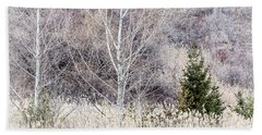 Winter Woodland With Subdued Colors Bath Towel