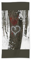 Winter Woods Romance Hand Towel