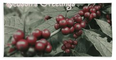 Bath Towel featuring the photograph Winterberry Greetings by Photographic Arts And Design Studio
