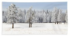 Winter's Coat Hand Towel by Dee Cresswell