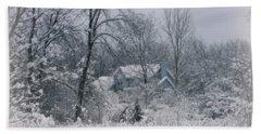 Winters Silence Hand Towel by Kay Novy