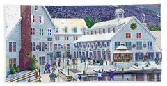 Wintertime At Waterville Valley New Hampshire Hand Towel