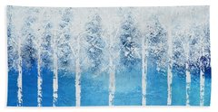 Bath Towel featuring the painting Wintry Mix by Linda Bailey