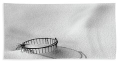 Wire Basket In Snow Hand Towel
