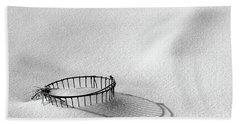 Wire Basket In Snow Bath Towel