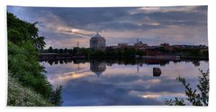 Wisconsin River Reflection Bath Towel