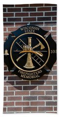 Hand Towel featuring the photograph Wisconsin State Firefighters Memorial Park 5 by Susan  McMenamin
