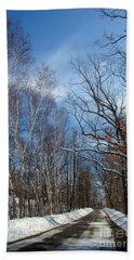 Wisconsin Winter Road Bath Towel